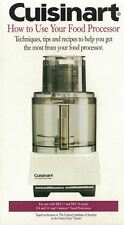 Cuisinart VHS How to Use Your Food Processor Models DLC-7 and DLC-8 Sealed New