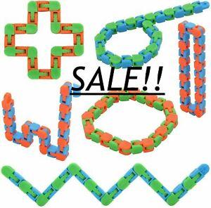 Wacky Tracks Snake Fidget Toy Anxiety Stress Relief ADHD Fidget Sensory UK ⭐⭐⭐