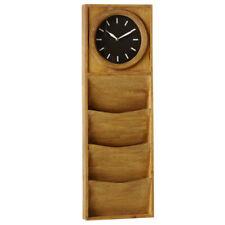 Vertical Triple Pocket Wall Clock
