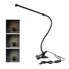8W LED Luce Morsetto Dimmerabile Lampada da Scrivania Flessibile Tavolo USB