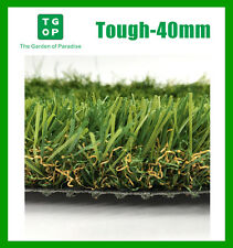 Tough-40mm 4 Tone Artificial Grass Synthetic Turf Lawn Carpet 2m or 4m Width
