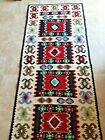 """Beautiful Vintage Hand Made Turkish or Middle Eastern Runner Rug 79"""" x 31"""""""