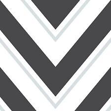 CHEVRON WALLPAPER - BLACK & WHITE - RASCH 304107