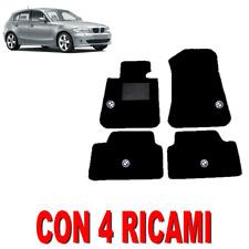 TAPPETINI AUTO SU MISURA PER BMW SERIE 1 (E87) IN MOQUETTE E GOMMA CON 4 RICAMI