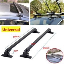Car Roof Rail Luggage Rack Baggage Carrier Cross Aluminum Alloy w/Antitheft Lock