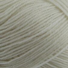 King Cole Merino Blend Superwash Wool 4 Ply 001 White Yarn Flat Rate Postage .