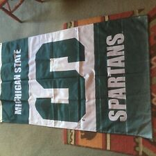 Bsi Products Michigan State Spartans Premium Split Flag Polyester Green & White