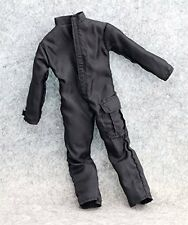 "2Pcs 1:6 Scale US Black SWAT Jumpsuit Battle Dress Coverall for 12""Action Figure"