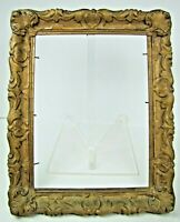 Antique Wooden PICTURE FRAME lovely detailed high relief raised scallop design
