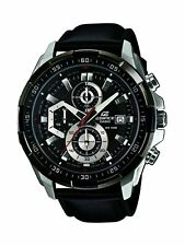 Casio Men's Edifice Stainless Steel & Leather Quartz Watch EFR539L-1AV