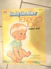 Vintage 1977 Baby Brother Tender Love Mattel Paper Doll Whitman Uncut
