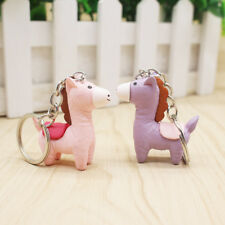 2Pcs Purple/Pink Horse  Bag Charm Accessory Key Ring Chain Holder Girl Gift