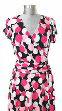 Multi-Color Dress - Women's Pink, Black and White Size L