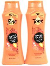 2 Ct Tone 24 Oz Mango Splash Cocoa Butter & Papaya Rich Moisturizing Body Wash