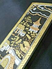 Ink Stick Calligraphy China Gold Embellishment Signs Chinese Boxed