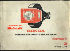Honda CB750 F2 SOHC (77-79) Genuine Parts List Catalog Manual Book CB 750 F CP07