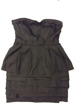 BCBG MAX AZRIA Peplum Multi-Layered Strapless Black Dress - Size 12 ($298)