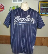 NY YANKEES Baseball Jersey MEN SZ XL Majestic SEWN Vintage Rare Alternate Blue