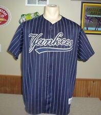 NY YANKEES Baseball Jersey MEN SZ XL Majestic SEWN Vintage Rare Alternate Blue