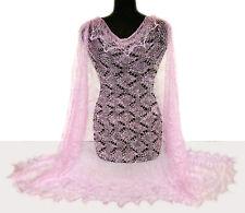Chale Etole russe couleur Rose Cadeau original Femme Etole Chale Rose tricotee