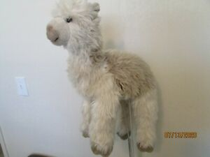 "LARGE / REALISTIC  Plush Stuffed Tan / White "" LAMA ""   (Dakin, 16"")"