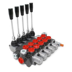 HYDRAULIC CONTROL VALVE FIVE SPOOL 10 GPM 3625 PSI MAX OPEN CENTER