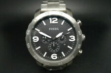 New Old Stock FOSSIL Nate JR1353 Chronograph Stainless Steel Quartz Men Watch