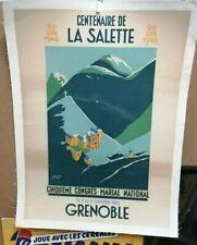AFFICHE ANCIENNE CENTENAIRE DE LA SALETTE GRENOBLE ISERE CHAZALON 1946