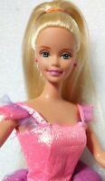 Vintage Mattel Barbie Doll, Blonde Hair,Blue Eyes, Pink Earrings, Pink Dress