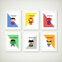 Superhero Wall Art Print | Boys Bedroom Pictures |  Baby Nursery Decor | Quotes