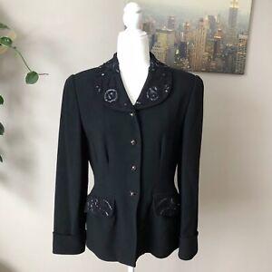 Vintage Zelda beaded embroidered embelished jacket blazer 8