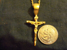 bling gold plated cross crucifix fashion pendant charm hip hop necklace jewelry