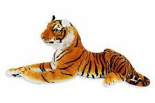 Large Tiger Plush Animal Realistic Big Cat Bengal Soft Stuffed Toy Pillow Orange