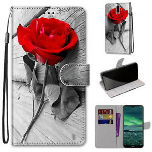 For Nokia 1.4 Cartoons Painted Magnetic Leather Flip Wallet Bracket Case Cover