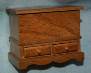 Blanket Chest With Drawers-Dollhouse Miniature