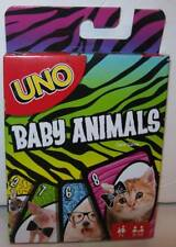 Mattel Games UNO Baby Animals Family Card Game NEW Free shipping NEW