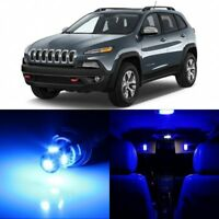 14 x Ultra Blue Interior LED Lights Package For 2014 - 2018 Jeep Cherokee  +TOOL