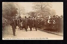 Towneley, Burnley - Opening of Towneley Exhibition - real photographic postcard