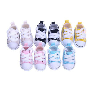 """5cm Canvas Shoes 1/6BJD Doll Canvas Shoes 18""""Inch American Girl Doll Accessories"""