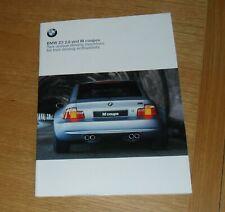 BMW Z3 2.8 & M Coupe Brochure 1999-2000 US Market