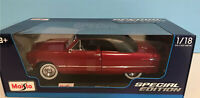 Maisto 1950 Ford Crestliner Deluxe Custom 1:18 Scale Diecast Model Car Maroon