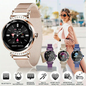 Waterproof Fitness Smart Watches Gold Women Lady Heart Rate Tracker iOS Android