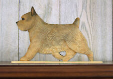 Norwich Terrier Dog Figurine Sign Plaque Display Wall Decoration Grizzle