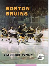 1970-71 Boston Bruins Yearbook Bobby Orr Ex Stanley Cup