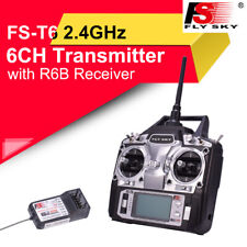 Flysky FS-T6 6CH 2.4G Transmitter W LCD+ FS R6B Receiver For RC Helicopter Drone
