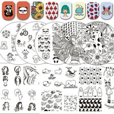 Manicure Nail Stamping Plates Manicure Polish Printing Image Templates ND Series