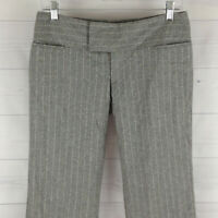 EXPRESS Wool Blend Womens Size 4 Stretch Gray Striped Flare Dress Career Pants