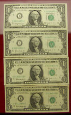 1963 B Joseph W. Barr $1.00 Notes -  AU   4 note lot
