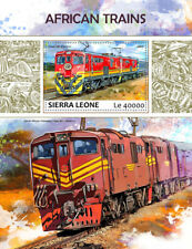 Sierra Leone 2017 MNH African Trains South African Railways 1v S/S Stamps