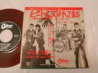 """THE BEATLES A HARD DAYS NIGHT 45 7"""" JAPAN ODEON ORIGINAL RED WAX FILM COVER"""
